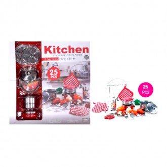 ست ظروف و لوازم آشپزحانه استیل 25 تکه مدل 555010