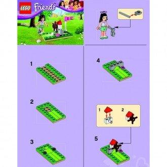 راهنمای ساخت لگو فرندز مدل مینی گلف lego 30203