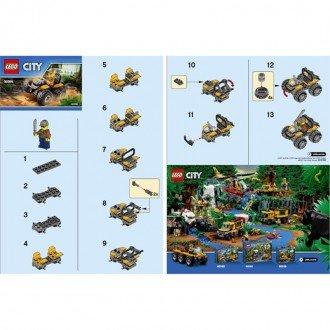 راهنمای ساخت لگو شهر مدل ماشین جنگل lego 30355