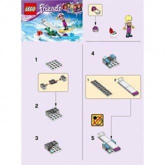 راهنمای ساخت لگو فرندز مدل دختراسکی سوار  lego 30402