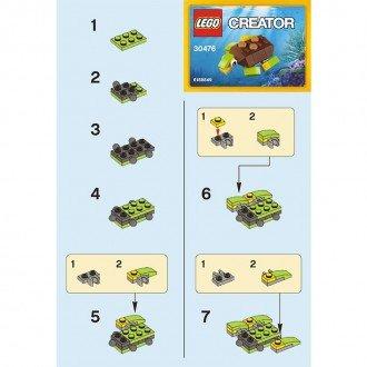 راهنمای ساخت لگو creator مدل لاک پشت lego 30476