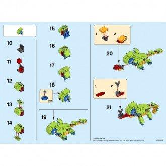 راهنمای ساخت لگو creator مدل آفتاب پرست lego 30477