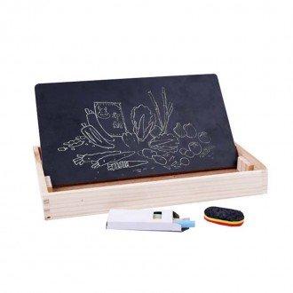 تخته سیاه چوبی با آموزش ریاضی و ساعت مدل 1299