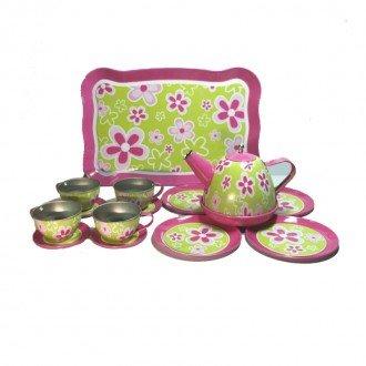 ست چای خوری فلزی گلدار مدل 52681