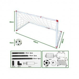 ابعاد و اند ازه دروازه فوتبال مدل 602