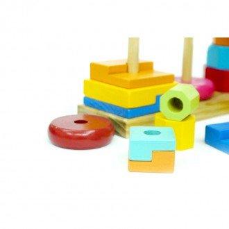 تنوع رنگ برج چوبی هوش 3 تایی مدل 9991