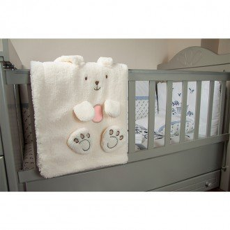پتوی خرگوشی کرم صورتی کودک  1201