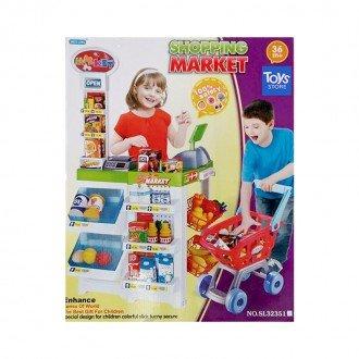 سوپر مارکت با چرخ خرید و صندوق لوازم 32351