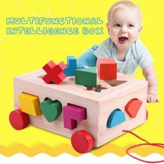 جورچین هوش چوبی نخ کش مدل 1277 بهترین هدیه برای کودکان