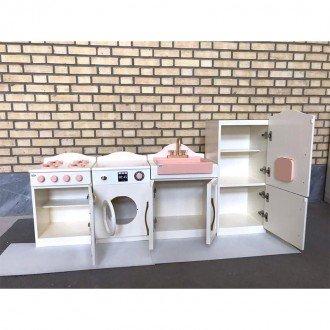خرید آشپزخانه 4 تکه رنگی چوبی