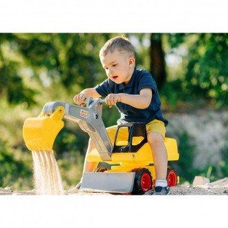 بازی و سرگرمی با بیل مکانیکی پایی زرد مدل 38050
