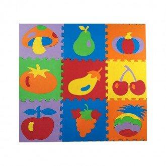 کفپوش کودک فومی طرح میوه 9 عددی 33*33 سانتی متری مدل 2025