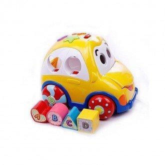 اسباب بازی ماشین موزیکال و جورچین هوش و سرگرمی  مدل winfun 006590