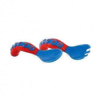 قاشق و چنگال قرمز آبی nuby مدل 5253