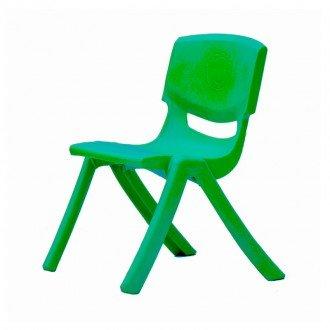 صندلی کودک طرح لبخند رنگ سبز تیره کد 5029