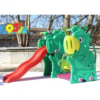 تاب و سرسره با حلقه بسکتبال خوک مدل 5013