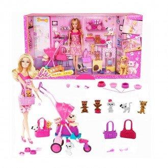 قیمت عروسک باربی و حیوانات خانگی مدل BCF82