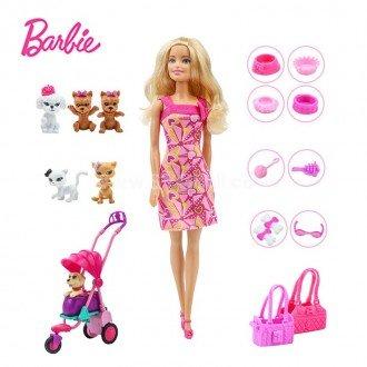 خرید عروسک باربی و حیوانات خانگی مدل BCF82