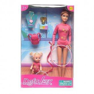 عروسک دفا صورتی با هولاهوپ مدل 8353