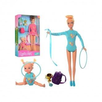 عروسک دفا آبی با هولاهوپ
