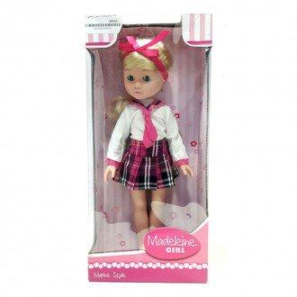 عروسک با دامن زرشکی مدل 50492