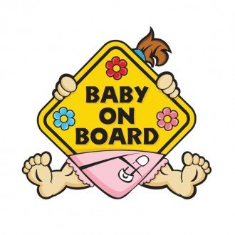baby on board mother care طرح  دختر مدل M8243