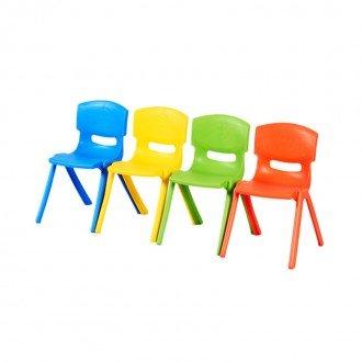 صندلی کودک طرح لبخند رنگ نارنجی کد 5029