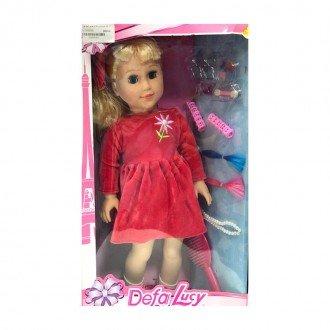 خرید عروسک دفا با لباس گلبهی مدل 5508