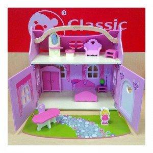 خرید خانه عروسک چوبی قابل حمل classic world 4156