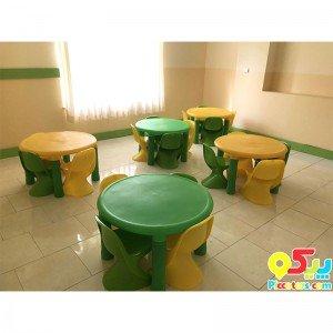 صندلی کودک خانگی رامو زرد PIC-7001