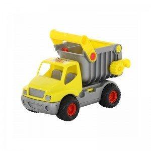 کامیون زرد با باربند نقره ای polesie مدل 44839