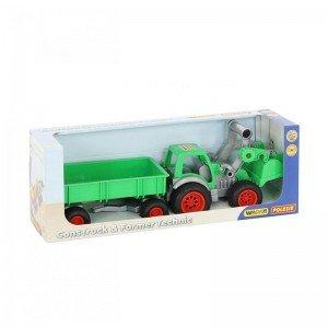 ویژگی های تراکتور سبز با لودر و تریلی polesie مدل 37770