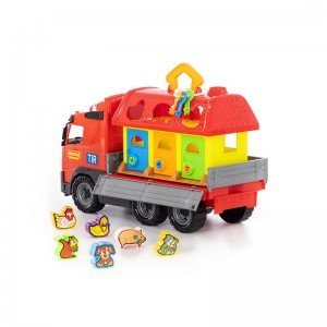 خرید کامیون حمل پازل  polesie مدل 58256