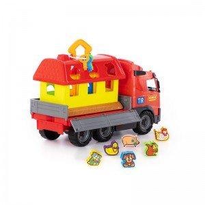 قیمت کامیون حمل پازل  polesie مدل 58256