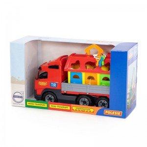 کامیون حمل پازل  polesie مدل 58256