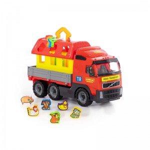 ویژگی های کامیون حمل پازل  polesie مدل 58256