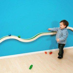 پیست ماشین بازی چوبی دیواری کودک با دو عدد ماشین مدل 5553