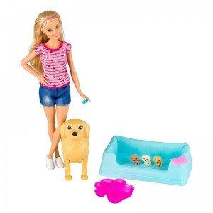 قیمت عروسک باربی همراه با سگ مادر مدل FBN1V