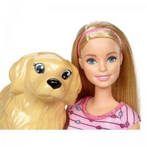 فروش عروسک باربی با کالسکه حیوانات مدل BCF82