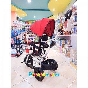 خرید سه چرخه کودک با سایبان قرمز مدل T110025