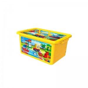 خرید بلوک جعبه ای زرد 105 تکه QUNLONG مدل  10556