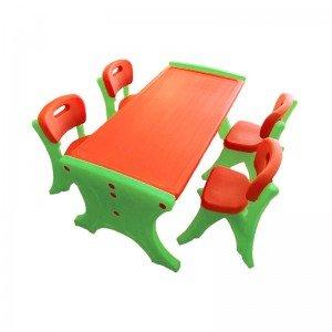 میز کودک مستطیل 6نفره نارنجی مدل 110