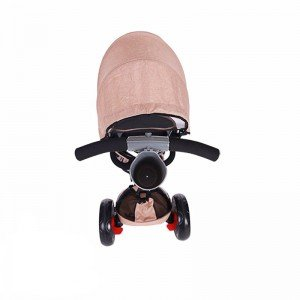 خصوصیات سه چرخه  با سایبان Kikka Boo رنگ بژ ملانژ مدل Niki 3in1
