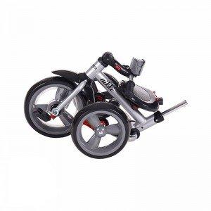 خرید سه چرخه تاشو با سایبان Kikka Boo رنگ بژ ملانژ مدل Niki 3in1