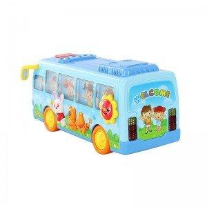 اسباب بازی اتوبوس مدرسه  HUILE TOYS مدل 908