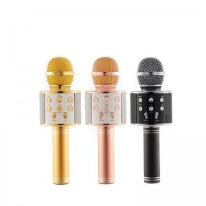 میکروفون اسپیکر دار مشکی مدل 858