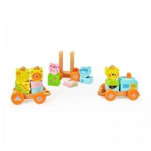 اسباب بازی قطار چوبی