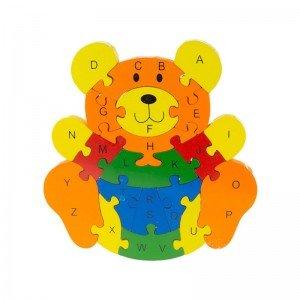 پازل چوبی آموزشی طرح خرس مدل 7006