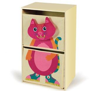 قفسه اتاق خواب كودك طرح 'گربه (كرم رنگ)كد7000121