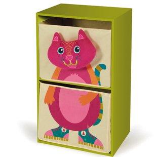 قفسه اتاق خواب كودك طرح گربه (سبزرنگ)كد7000721